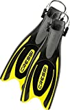 Cressi Frog Plus Open Heel Scuba Dive Fins (Made in Italy), Black/Yellow, L/XL-9.5/10.5 by Cressi