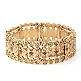 Jewlery11 Gold-Tone Metal Stretch Bracelet Gift For Her