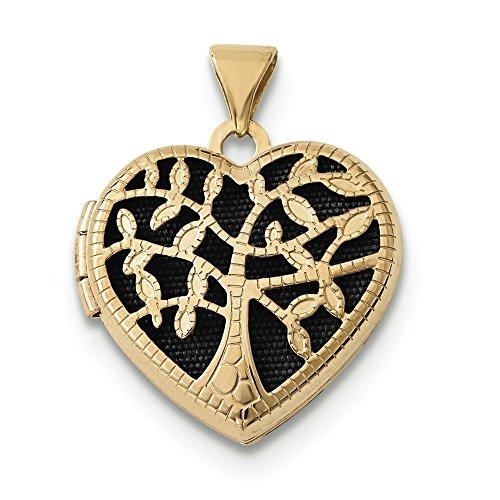 18 mm 14 carats Cœur avec médaillon-JewelryWeb arbre