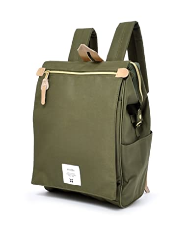 Anello Polyester Canvas Waterproof Unisex Flap Backpack