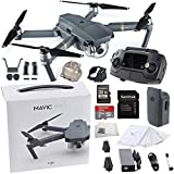 DJI Mavic Pro Collapsible Quadcopter Drone Starters Bundle With Remote Controller, Intelligent Flight Battery, 8330 Folding Propellers, Gimbal Clamp, Charger, AC Power Cable + More
