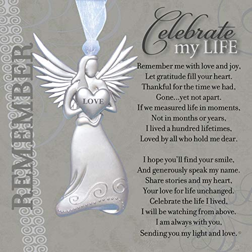 Memorial/Remembrance Angel Ornament with Celebrate My Life Poem- Heartfelt Sympathy Gift for Loss of Loved One ()