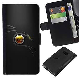 JackGot ( Tribal Dragon Minimal ) HTC One M9 la tarjeta de Crédito Slots PU Funda de cuero Monedero caso cubierta de piel