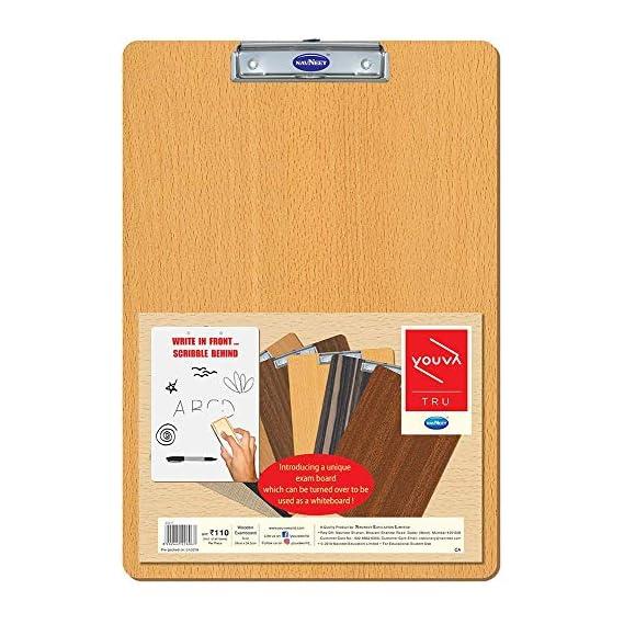 Navneet Youva | Wooden Exam Board | 24x34.5 cm | Pack of 1