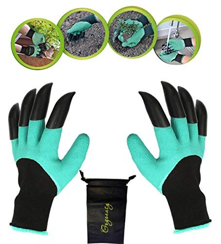 YTH Garden Gloves with Claws, Great for Digging Weeding Seeding poking -Safe for Rose Pruning -Best Gardening Tool -Best Gift for Gardeners (Double Claw)