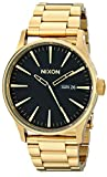 Nixon Sentry SS A356510-00. All Gold/Black Men's Watch (42mm Gold/Black Watch Case. 23-20mm Gold Stainless Steel Band)