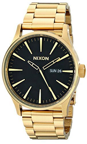 Nixon Sentry SS A356510-00. All Gold/Black Men's Watch (42mm Gold/Black Watch Case. 23-20mm Gold Stainless Steel - Ambush Black Gold