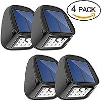 Solar Lights, Outdoor Waterproof Wireless Solar Motion...