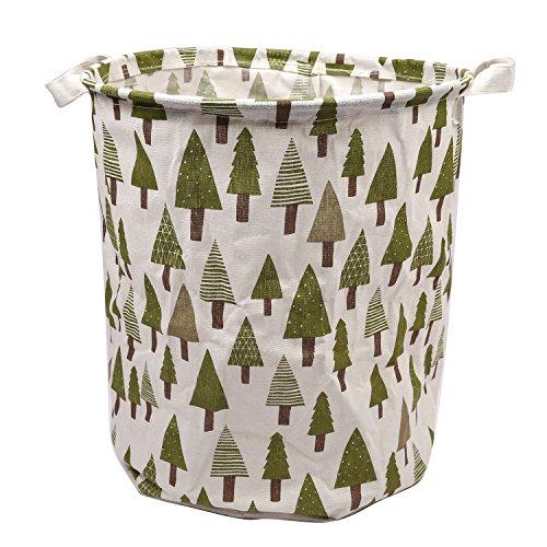 Pauwer-Large-Storage-Bin-137x157-Fabric-Toy-Box-Toy-Storage-Toy-Organizer-for-Boys-and-Girls-Kids-Laundry-Basket-Nursery-Hamper-Trees