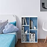 Furinno 5-Cube Reversible Open Shelf, White/Light