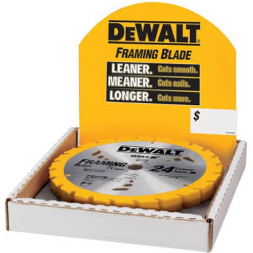(DEWALT DW3578B10 7-1/4-Inch 24T Framing Carbide Thin Kerf Circular Saw Blade)