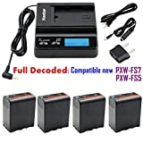 Kastar Ultra Fast Charger & 4 x Battery for Sony BP-U60, BPU60, BP-U66 and PMW-100, PMW-150, PMW-160, PMW-200, PMW-300, PMW-EX1, EX3, PMW-EX160, PMW-EX260, PMW-EX280, PMW-F3, PXW-FS5, PXW-FS7