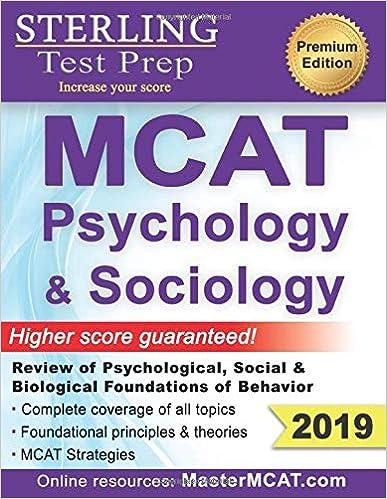 Sterling Test Prep MCAT Psychology Sociology Review Of