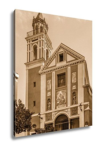 Ashley Canvas Church Del Senor San Jose In Historical Center Of Seville Spain, Wall Art Home Decor, Ready to Hang, Sepia, 20x16, AG6533488 by Ashley Canvas