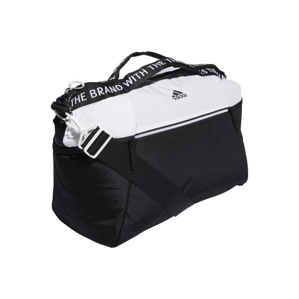 Amazon.com  adidas Studio III Duffel Bag, White Black, One Size  Sports    Outdoors 6953a4f18a