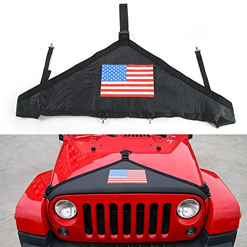 Front Hood Cover,RT-TCZ Front Hood Bra Protector T Style for Jeep Wrangler JK 2007-2017[USA - Hood Bra Protector
