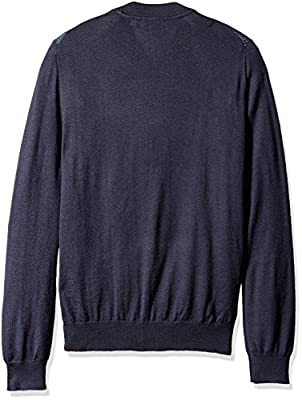Calvin Klein Men's Full Zip Merino Baseball Sweater