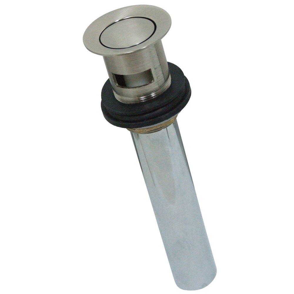 Kingston Brass KB8108 Made To Match 22 Gauge Brass Push Up Drain, 2-1/8-Inch, Satin Nickel
