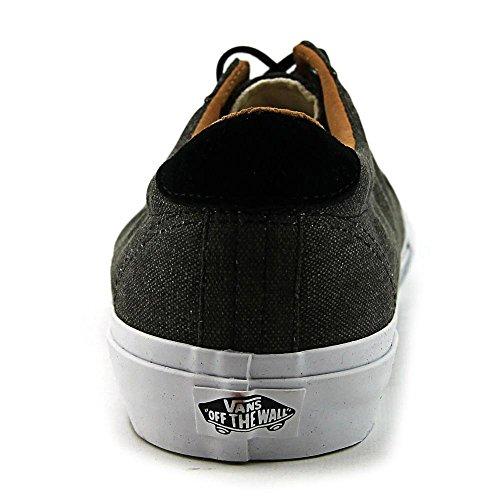 Varebiler Domstol + Vasket Lerret Svarte Menns Klassiske Skate Sko Størrelse 8