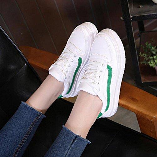 deporte Primavera Green Zapatillas casuales Blanco Zapatos Correr de entrenamiento Con cordones Caminar Entrenadores Zapatos Verano mujer de Zapatos Rojo GAOLIXIA de de On gimnasia Verde Slip qqEY48
