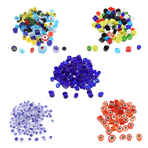SM SunniMix 140g Millefiori Glass Beads Irregular Fusing Glass Loose Beads Mosaic Tile Supply Art Glass Accessory
