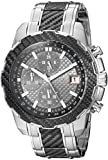 GUESS Men's Stainless Steel Casual Silicone Watch, Color: Silver-Tone/Black (Model: U1046G1)