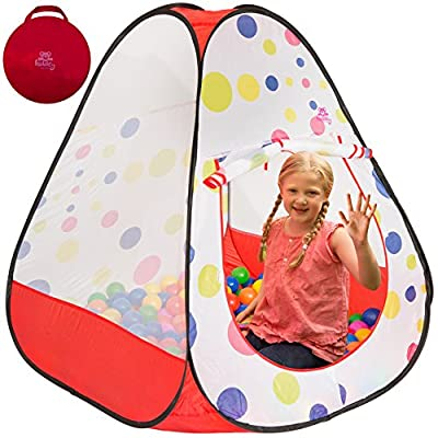 Kiddey Ball Pit Play Tent - Pops up No Assembly Required - Use as a Ball Pit or As an Indoor / Outdoor Play Tent, Comes with Convenient Carry Bag for Easy Travel and Storage, Great Gift Idea: Toys & Games