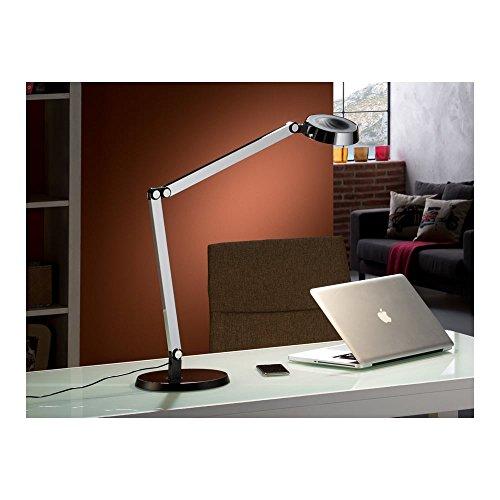 Schuller Spain 397852I4L Modern Chrome Adjustable Table Lamp Black 1 Light Living Room, bed room, Study, Bedroom LED, Chrome Adjustable neck desk lamp | ideas4lighting by Schuller