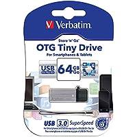Verbatim 64GB OTG Tiny USB 3.0 & microUSB Dual Interface Hybrid USB Flash Drive
