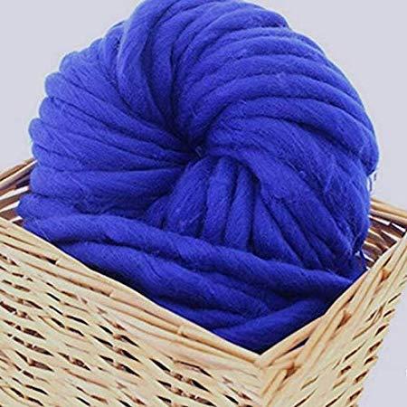 Dottiete Wool Yarn - Chunky Wool Yarn Super Soft Bulky Arm Roving Crocheting Diy Scarf 250g 9 Color Felting - Lot Lion Super Fingering Bulky Assortment Large Mercury Crocheting Cone ()