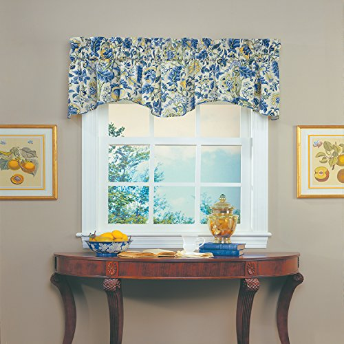 (Waverly 10980080X018PCL Imperial Dress 80-Inch by 18-Inch Window Valance , Porcelain )