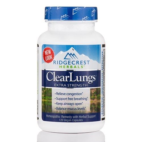 RIDGECREST HERBALS Clearlungs Extra Strength New 120 Capsules, 0.02 Pound (Capsules 120 Ridgecrest Herbals)