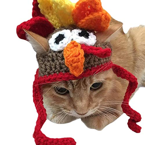 Weite Cute Pet Costume Turkey Hat Cap Thanksgiving Apparel for Cats and Dogs (Multicolor) -