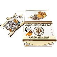 Rickaroons Chocolate Blonde Vegan, Gluten Free, Certified Organic, Coconut Energy Bar 1.6 Ounce (12 Count)