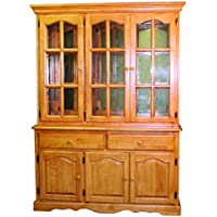 Sunset Trading Treasure Buffet and Lighted Hutch, Light Oak Finish