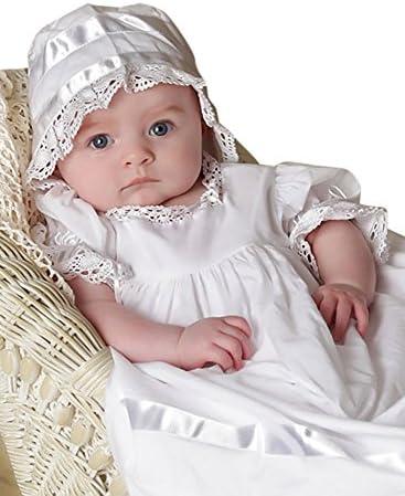 a95d45a43 Strasburg Children Babies Lace Christening Gown With Bonnet Baptism Dresses