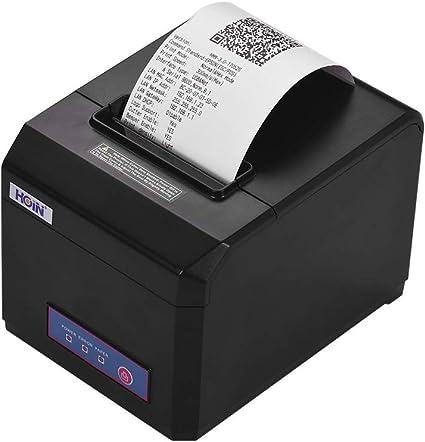 Professional 250mm//Sec 80mm Thermal Dot Receipt Printer AUTO-CUT 1D//2D Barcode