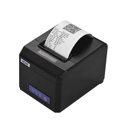 Aibecy Impresora de recibos térmica USB de 80 mm con cortador ...