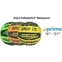 Flash Sales Wave Runner Grip It Waterproof Hydro Volleyball With Sure Grip Technology Works for Pool Lake River Pond Park Beach Gift Toy Kids Games Bulk Blue Green Yellow Orange (Mix 4 Units)