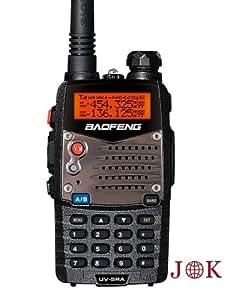 Baofeng UV 5RA 136-174/400-480 MHz Dual-Band DTMF CTCSS DCS FM 5W Amateur Two Way Radio (Black)