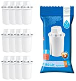 Pack of 12 Universal Water Filter Cartridges to fit Brita Classic Jugs