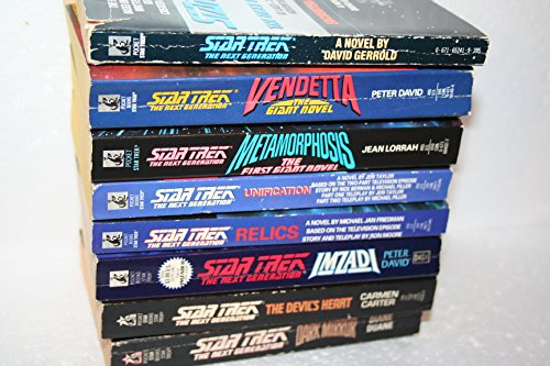 Star Trek The Next Generation 8-book collection of unnumbered Novels (Star Trek The Next Generation Encounter At Farpoint)