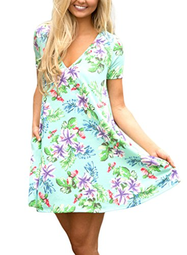 HOTAPEI Womens Floral Sleeve T Shirt