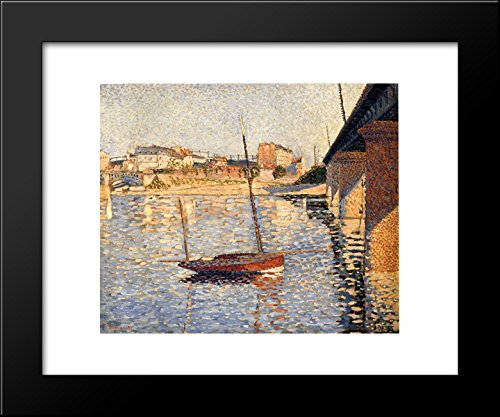- Le Clipper, Asnieres 20x24 Framed Art Print by Paul Signac