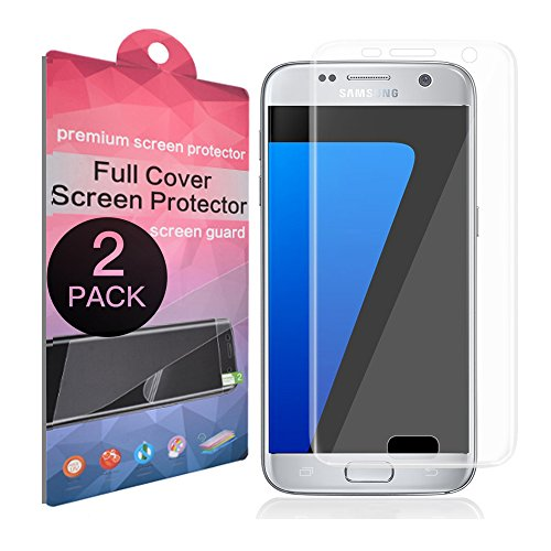 Galaxy S7 Screen Protector,SupThin [Full Coverage][Case Friendly][Bubble-Free][Anti-Scratch] HD Clear Screen Protector for Samsung Galaxy S7[2-Pack]
