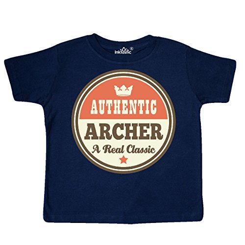 inktastic - Vintage Archer Real Classic Toddler T-Shirt 5/6 Navy Blue -