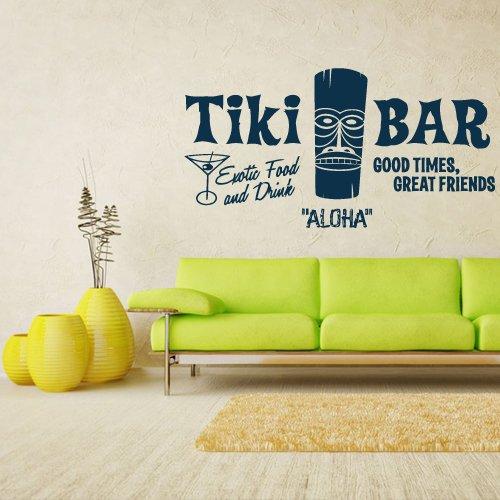 Wall Decal Vinyl Sticker Decals Aloha Tiki Bar Totem Idol Sign Words (Z1335) -