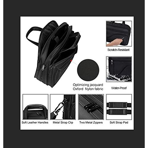 26ab5357b796 Kopack Laptop Briefcase Large Capacity 15.6 Inch Laptop Bag Water ...