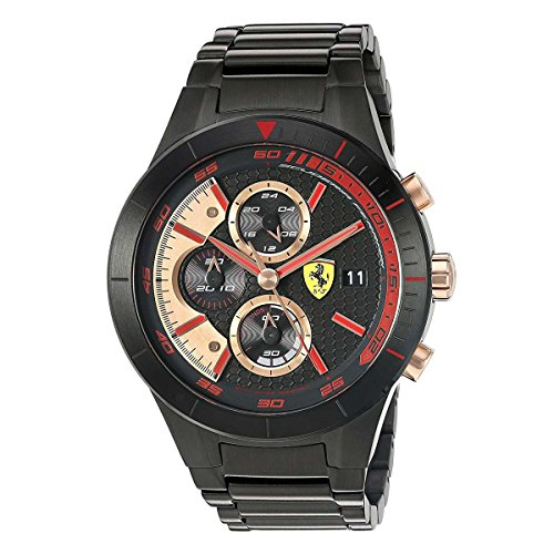 Ferrari 830305 'RED REV EVO CHRONO' Quartz Resin Watch