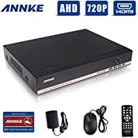 ANNKE 8CH H.264 Smart Security 720P/ 1080N DVR No HDD Included with QR Code Scan Smart Phone Remote Access Viewing Compatibility, HDMI Outport for 1080P Video View(Certified Refurbished)